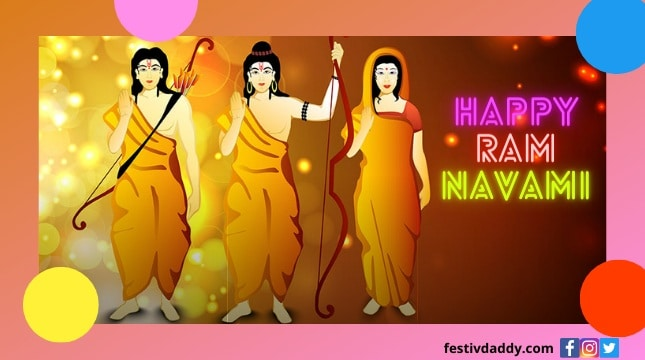 2021 Happy Ram Navami Wishes Quotes Messages Images Greeting. You can share on social media like Facebook,Twitter,Instagram,Telegram,Whatsapp